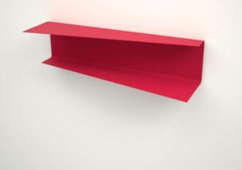 Design floating wall shelf. Metal